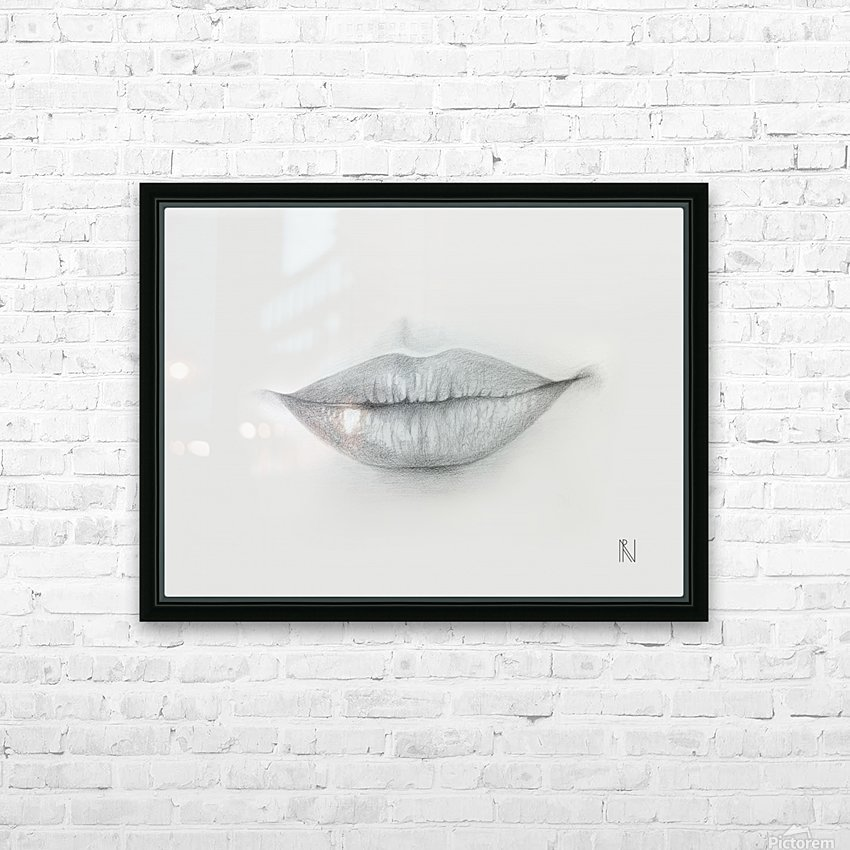 Mouth HD Sublimation Metal print with Decorating Float Frame (BOX)