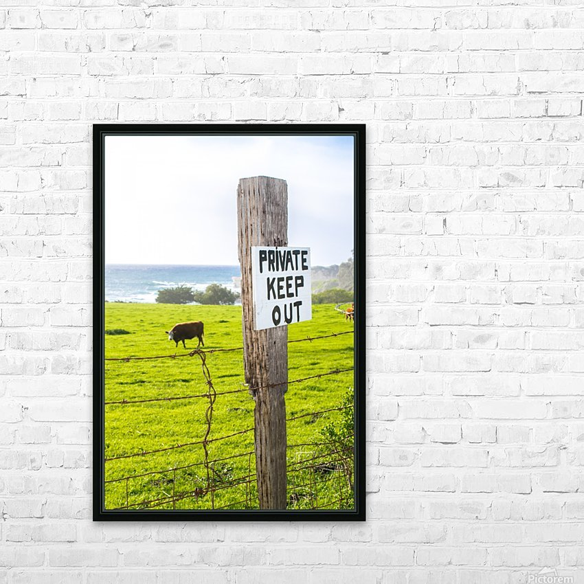 keepout HD Sublimation Metal print with Decorating Float Frame (BOX)