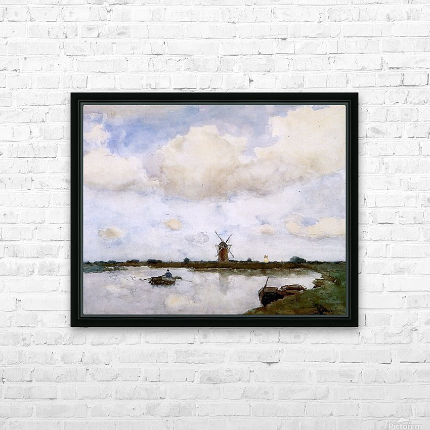 Mill at the lake Sun HD Sublimation Metal print with Decorating Float Frame (BOX)