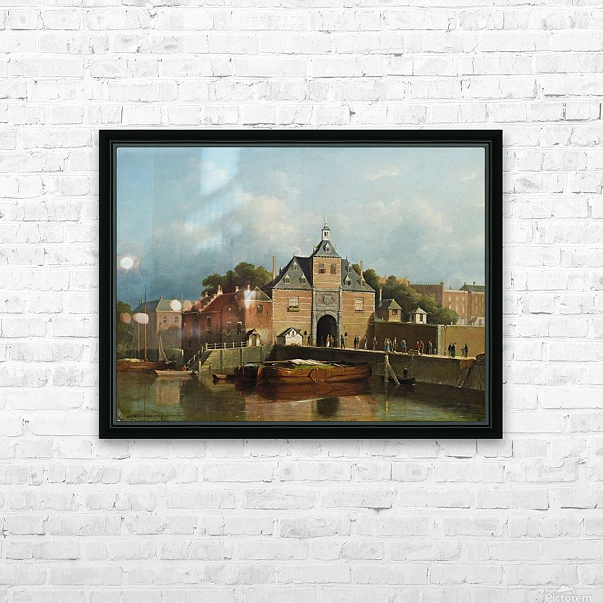 A view of a city gate HD Sublimation Metal print with Decorating Float Frame (BOX)