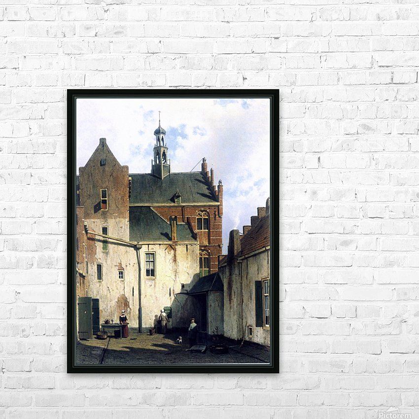 Culemborg, view at the westerly facade of the town hall at Wagenweg HD Sublimation Metal print with Decorating Float Frame (BOX)