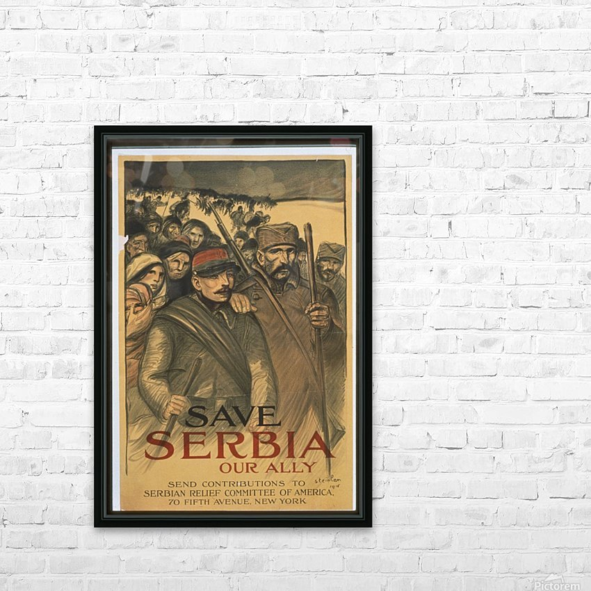 Vintage---Save-Serbia HD Sublimation Metal print with Decorating Float Frame (BOX)