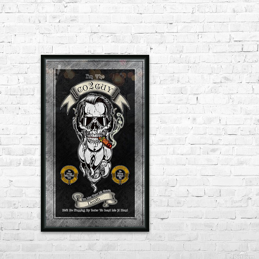 CO2 Guy Certified Real Global Climate Menace BLNDARK HD Sublimation Metal print with Decorating Float Frame (BOX)