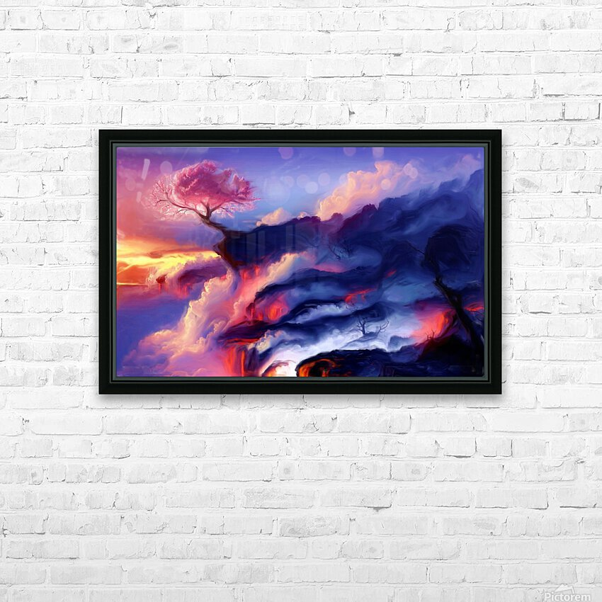 Fiery Mountain HD Sublimation Metal print with Decorating Float Frame (BOX)
