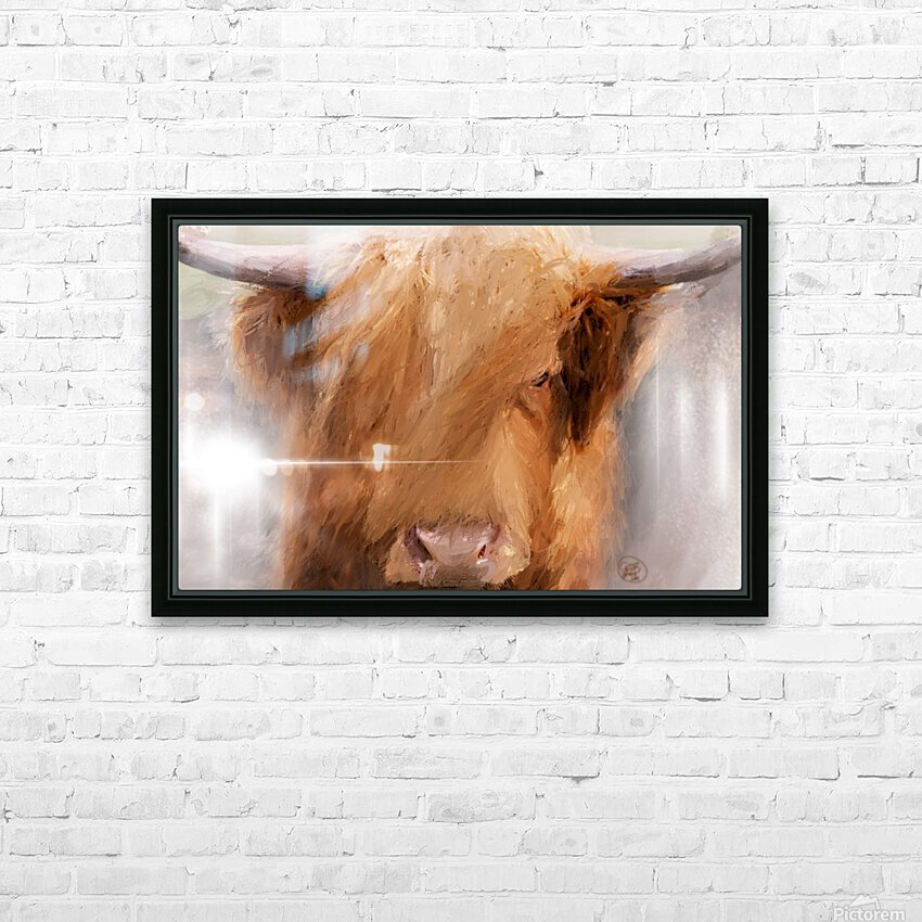 Highland Harry HD Sublimation Metal print with Decorating Float Frame (BOX)