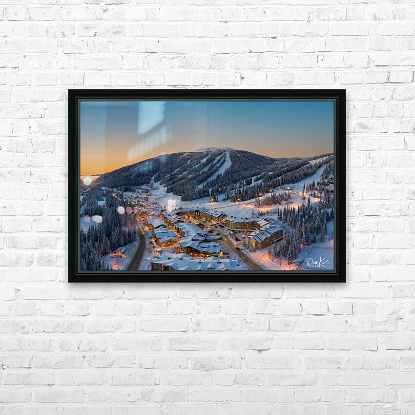 Hint of Fog HD Sublimation Metal print with Decorating Float Frame (BOX)