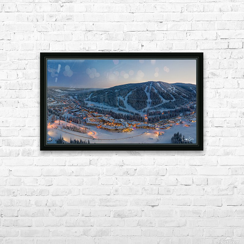 Almost Christmas HD Sublimation Metal print with Decorating Float Frame (BOX)