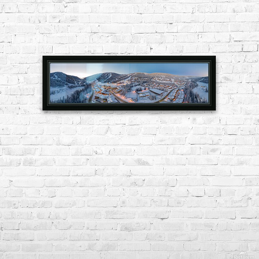 West to East HD Sublimation Metal print with Decorating Float Frame (BOX)
