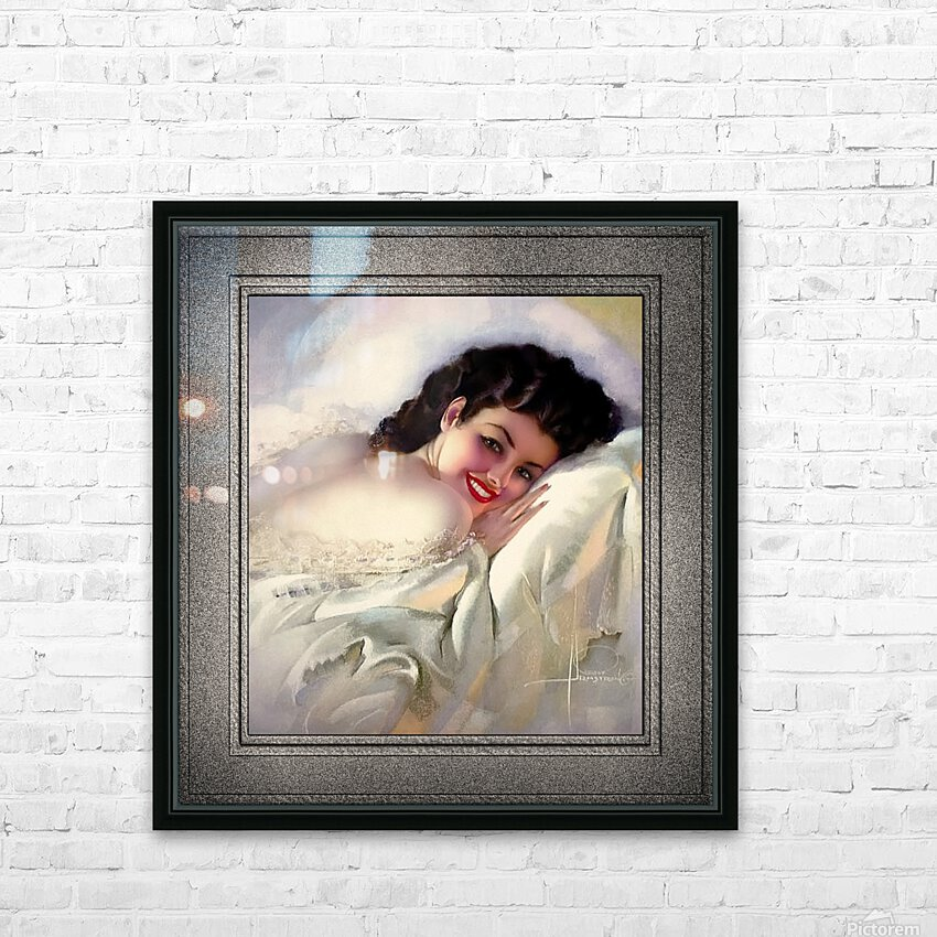 Sweet Dreams by Rolf Armstrong Vintage Illustration Xzendor7 Art Reproductions HD Sublimation Metal print with Decorating Float Frame (BOX)