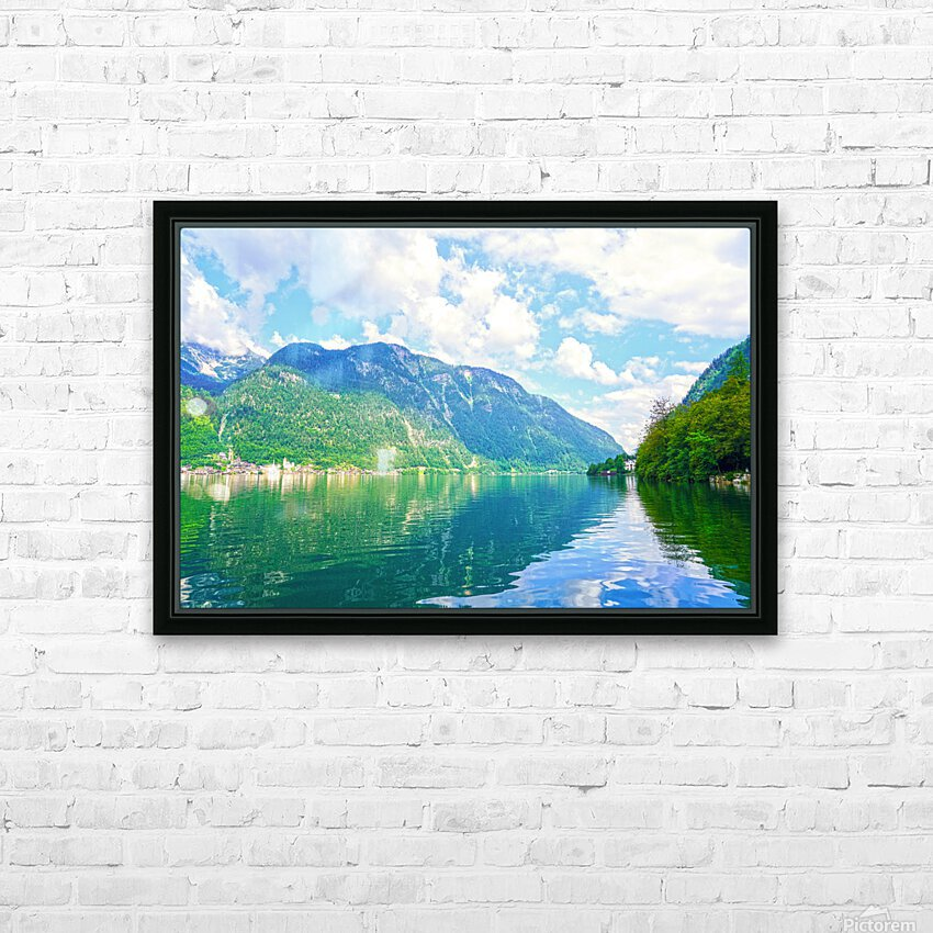 Hallstatt and Grub Castle with Beautiful Reflections in the Waters of Lake Hallstatt HD Sublimation Metal print with Decorating Float Frame (BOX)
