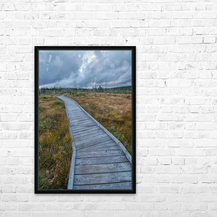Autumn Walk HD Sublimation Metal print with Decorating Float Frame (BOX)