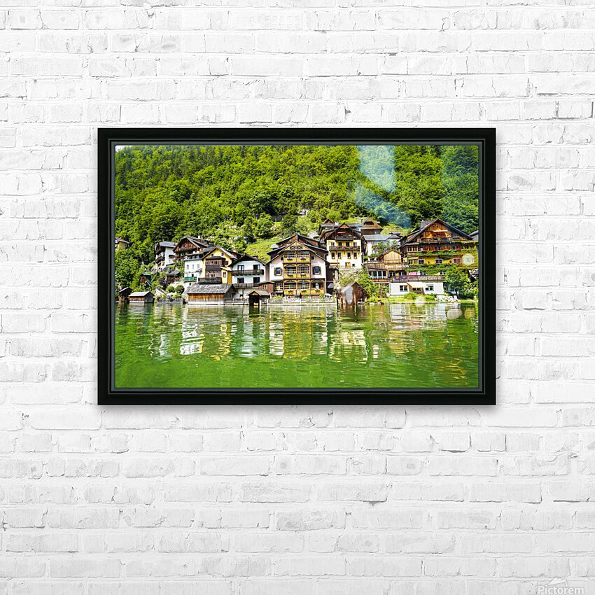 Snapshot in Time Hallstatt in the Upper Austria Alps 1 of 3 HD Sublimation Metal print with Decorating Float Frame (BOX)