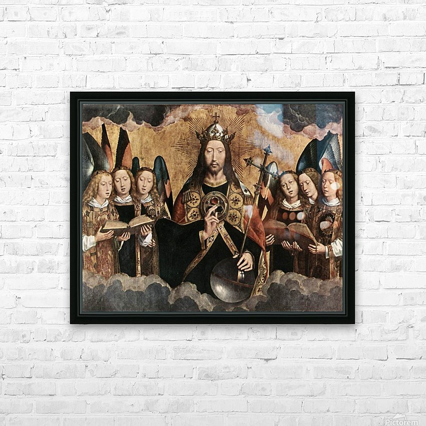 Christ Blessing, central panel from a triptych from the Church of Santa Maria la Real, Najera HD Sublimation Metal print with Decorating Float Frame (BOX)