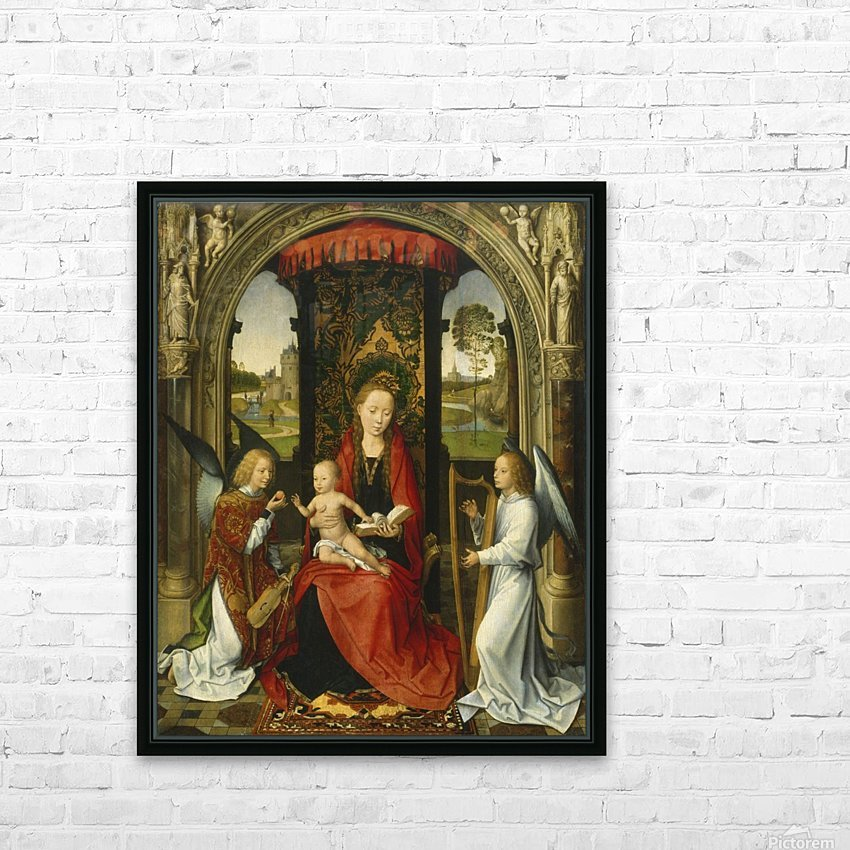 Madonna and Child with Angels HD Sublimation Metal print with Decorating Float Frame (BOX)