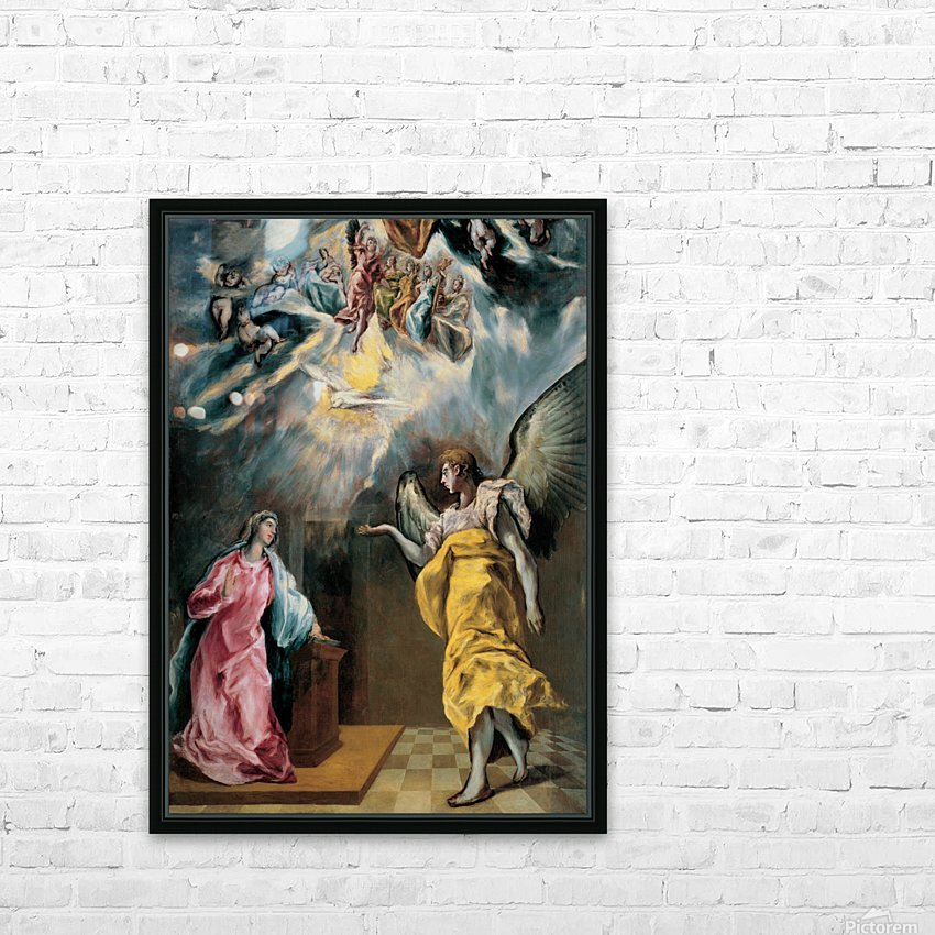 The Annunciation HD Sublimation Metal print with Decorating Float Frame (BOX)