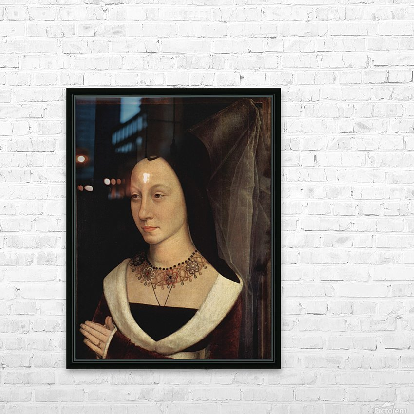 Portrait of Maria Portinari, 1475 HD Sublimation Metal print with Decorating Float Frame (BOX)