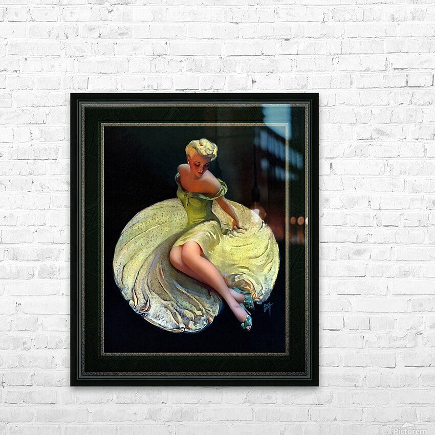 Golden Girl by Roy Best Vintage Illustration Xzendor7 Art Reproductions HD Sublimation Metal print with Decorating Float Frame (BOX)