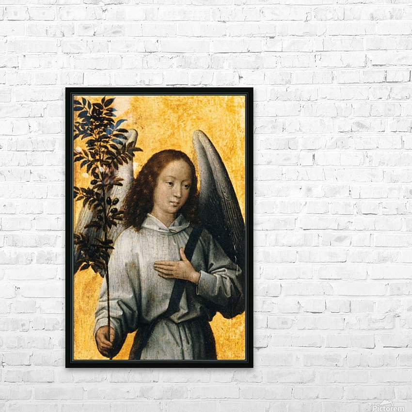 Angel with an Olive Branch Emblem of Divine Peace HD Sublimation Metal print with Decorating Float Frame (BOX)