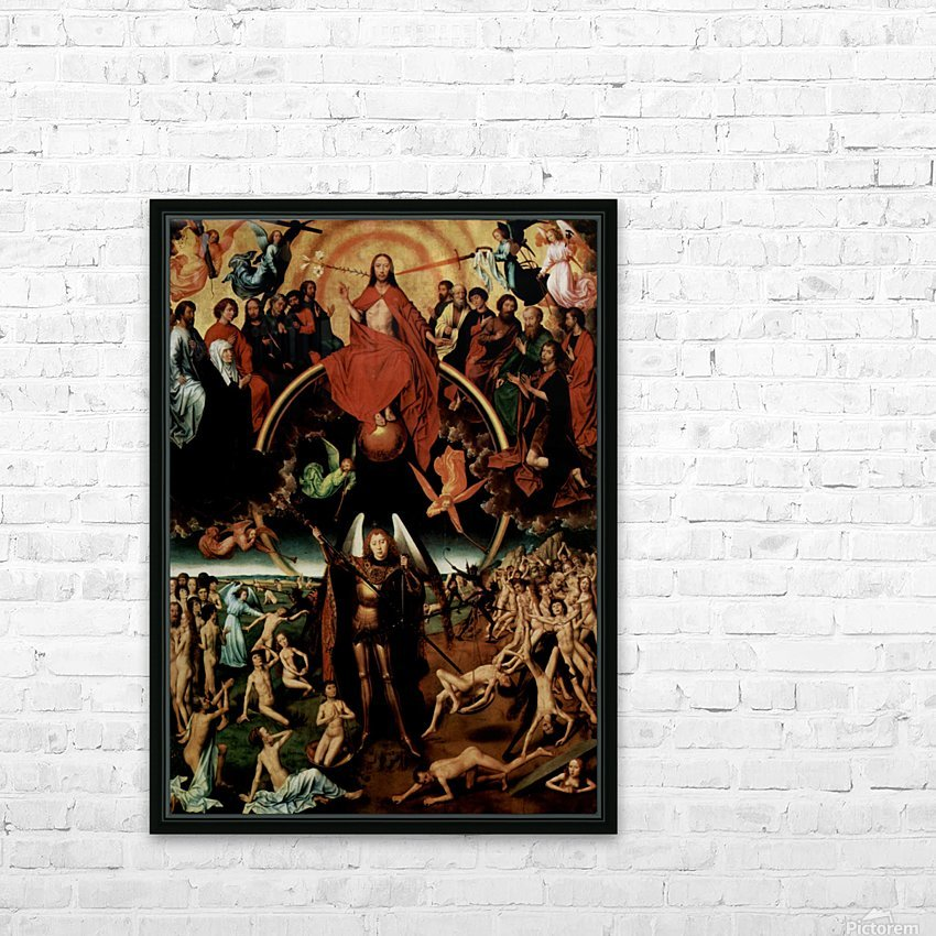 The Last Judgment, triptych, central panel HD Sublimation Metal print with Decorating Float Frame (BOX)