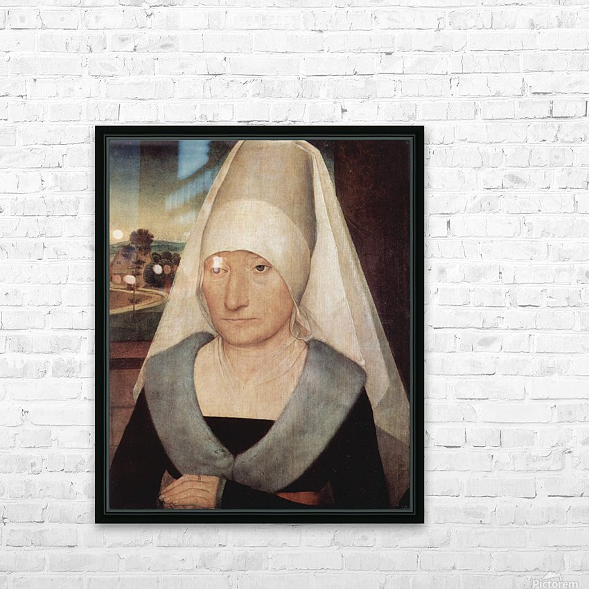 Portrait of an old woman, 1472 HD Sublimation Metal print with Decorating Float Frame (BOX)