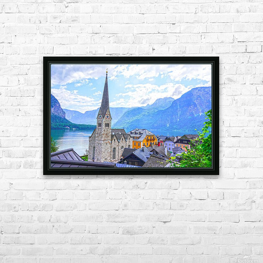 One Fine Day in Hallstatt Austria HD Sublimation Metal print with Decorating Float Frame (BOX)