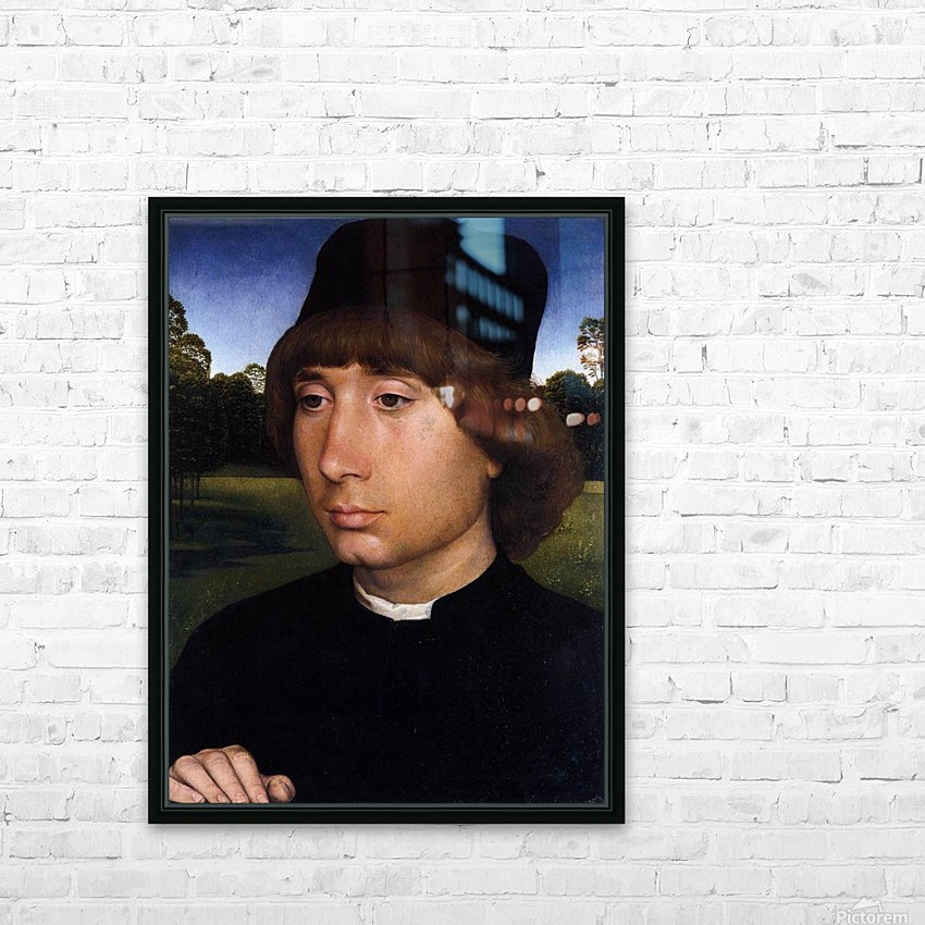 Portrait of a Young Man before a Landscape HD Sublimation Metal print with Decorating Float Frame (BOX)