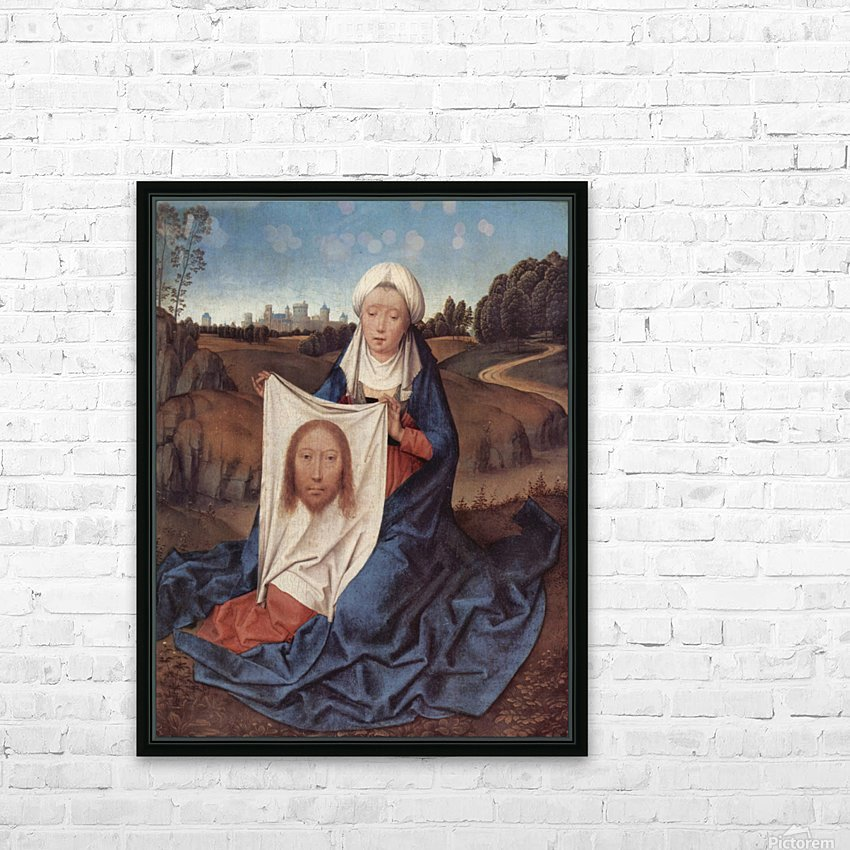 Saint Veronica, 1475 HD Sublimation Metal print with Decorating Float Frame (BOX)