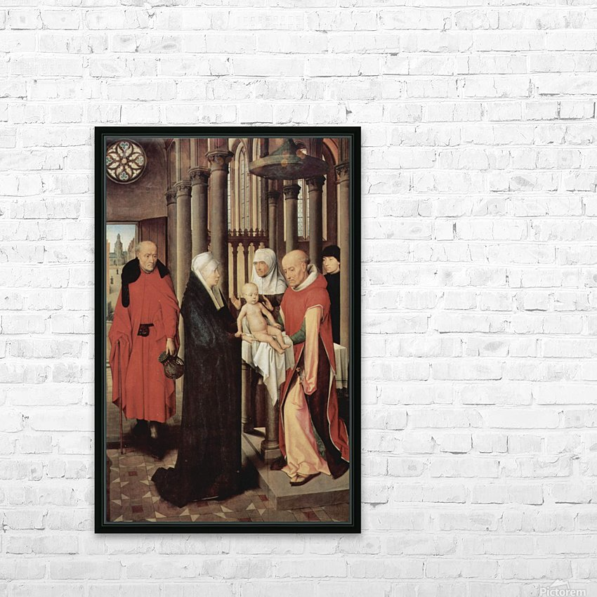 Adoration of the Magi Right wing of triptych, depicting the Presentation in the Temple HD Sublimation Metal print with Decorating Float Frame (BOX)