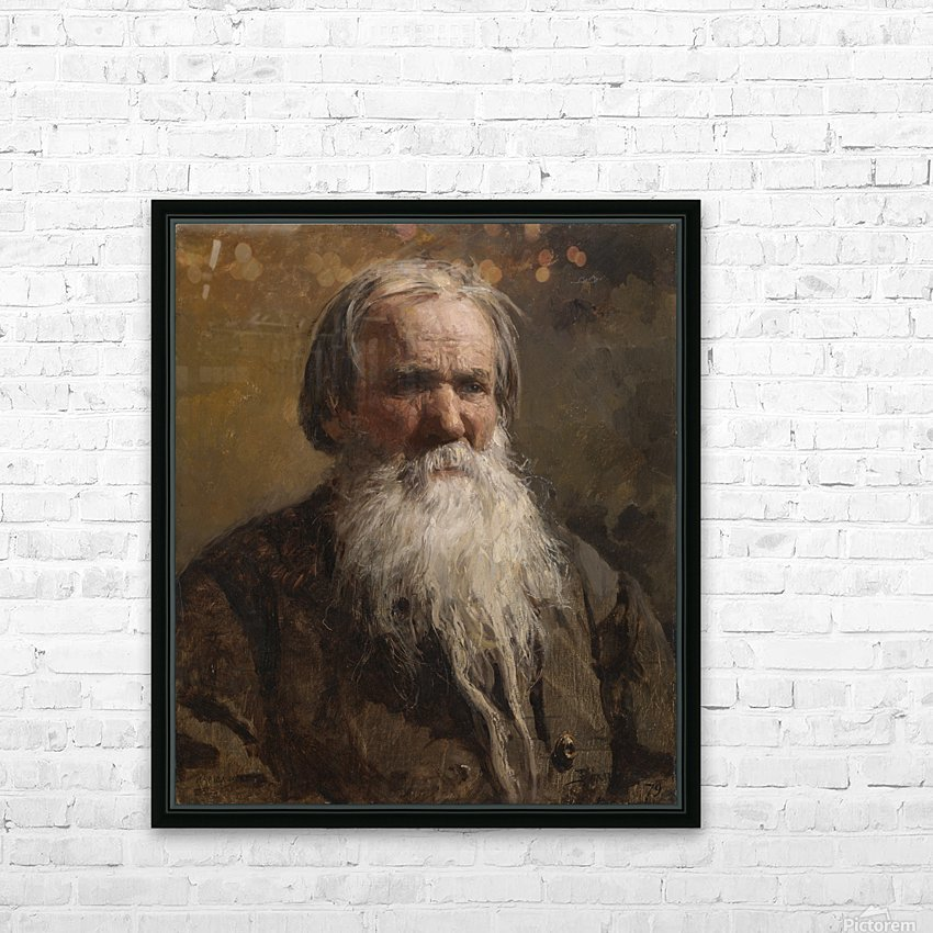 Portrait of an old man HD Sublimation Metal print with Decorating Float Frame (BOX)