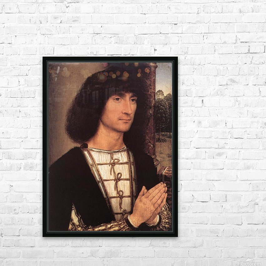 Portrait of a Young Man, 1490 HD Sublimation Metal print with Decorating Float Frame (BOX)