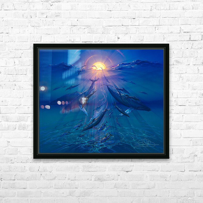 Pacific Sunrise HD Sublimation Metal print with Decorating Float Frame (BOX)