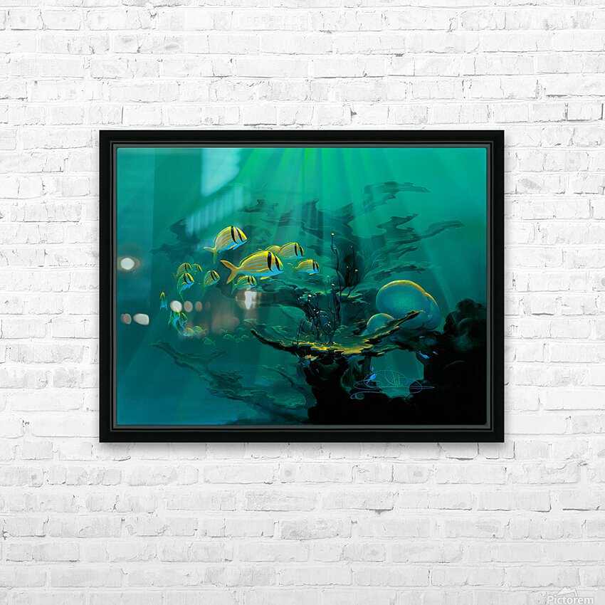 Atlantic Reef HD Sublimation Metal print with Decorating Float Frame (BOX)