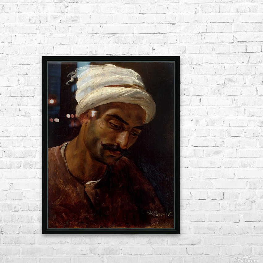 Head of an Arab HD Sublimation Metal print with Decorating Float Frame (BOX)