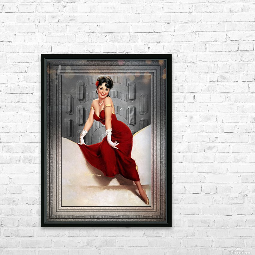 Picture Pretty by Gil Elvgren Classic Xzendor7 Old Masters Reproductions HD Sublimation Metal print with Decorating Float Frame (BOX)