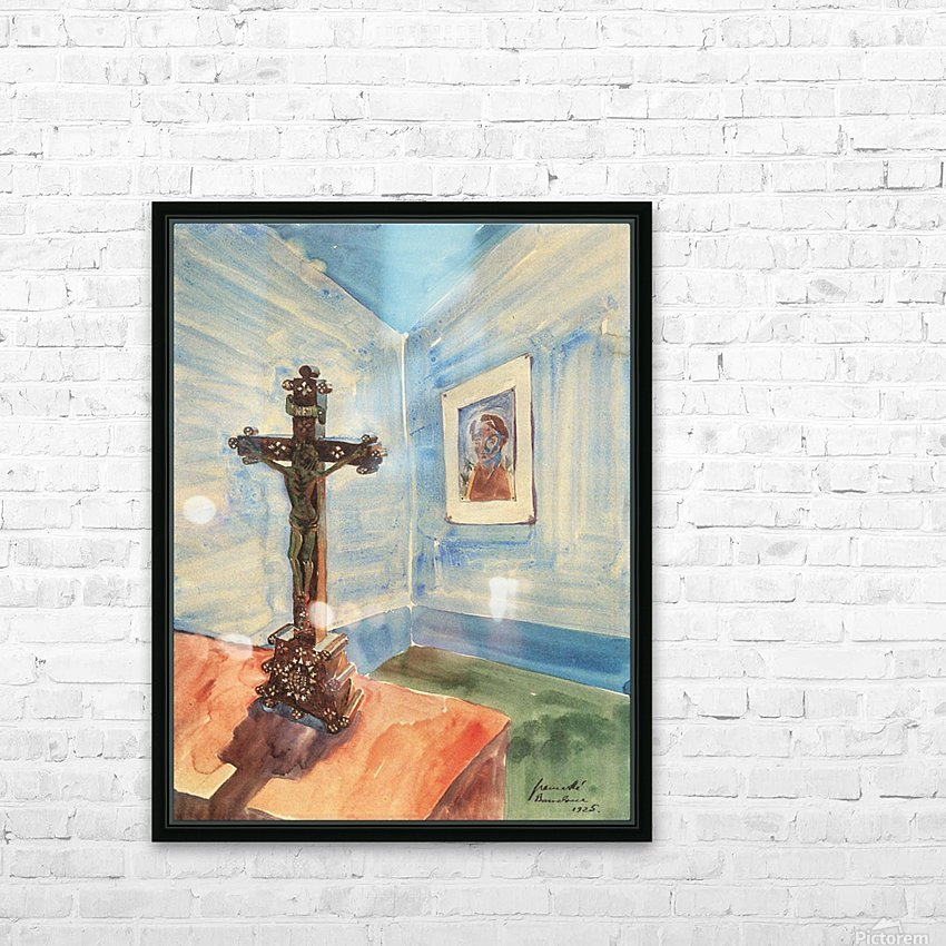 Crucifix in the room by Walter Gramatte HD Sublimation Metal print with Decorating Float Frame (BOX)