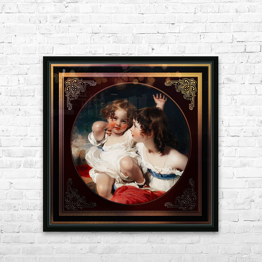 Nature - The Calmady Children by Sir Thomas Lawrence Classical Fine Art Xzendor7 Old Masters Reproductions HD Sublimation Metal print with Decorating Float Frame (BOX)