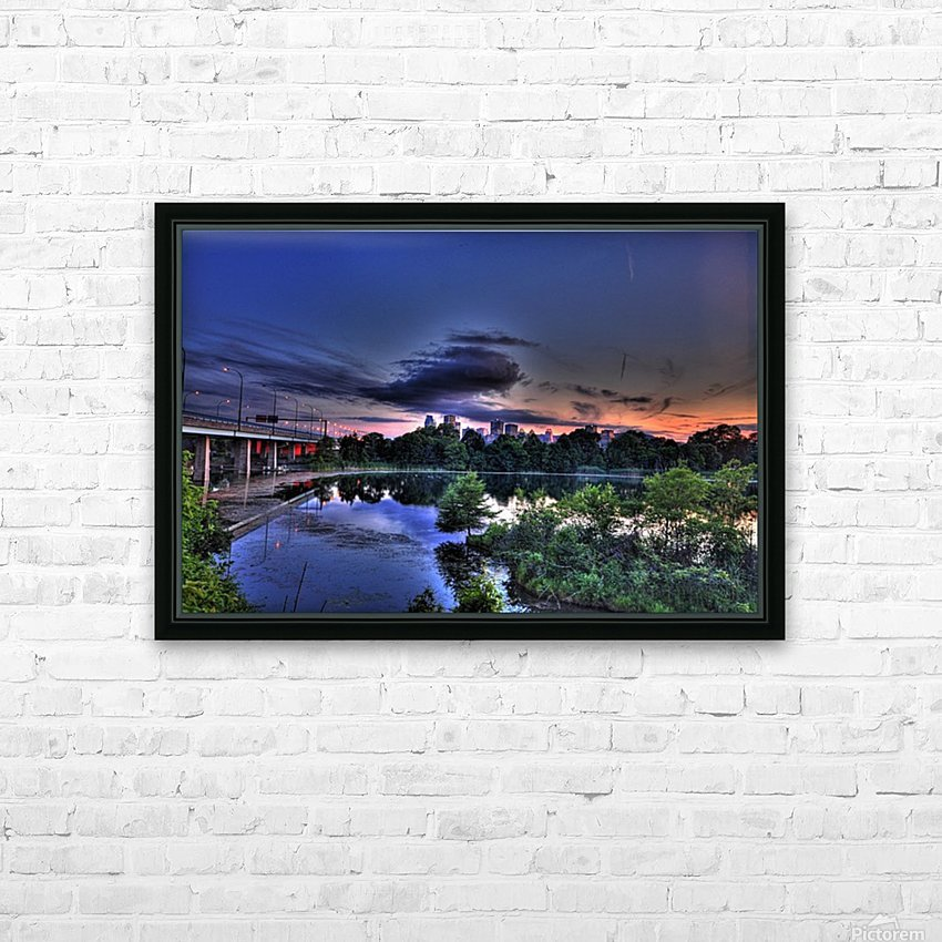 montreal island HD Sublimation Metal print with Decorating Float Frame (BOX)