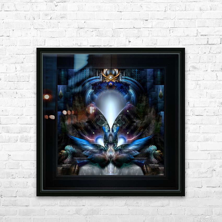 Herald The Light Fractal Wings Digital Art by Xzendor7 HD Sublimation Metal print with Decorating Float Frame (BOX)