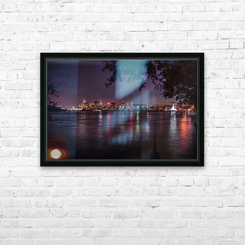 montreal night HD Sublimation Metal print with Decorating Float Frame (BOX)
