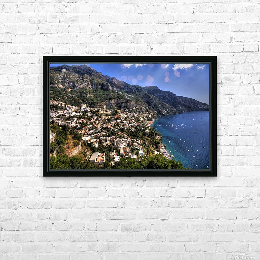 positano HD Sublimation Metal print with Decorating Float Frame (BOX)