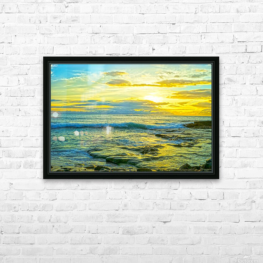 Sunset in Paradise   Hawaii HD Sublimation Metal print with Decorating Float Frame (BOX)
