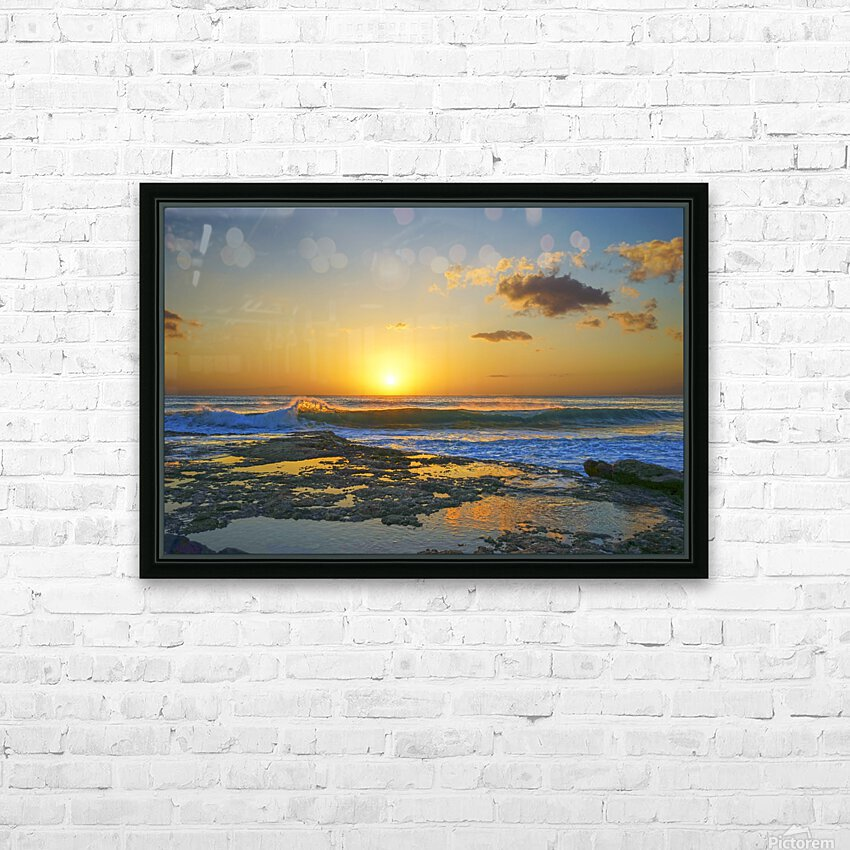 Brilliant Sunset at the Bay Hawaii HD Sublimation Metal print with Decorating Float Frame (BOX)