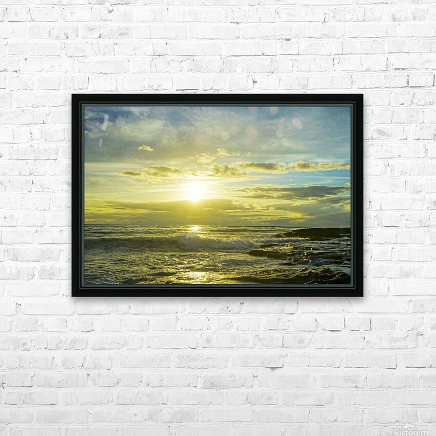 The Sun Sets at the Tidal Pools Hawaii HD Sublimation Metal print with Decorating Float Frame (BOX)