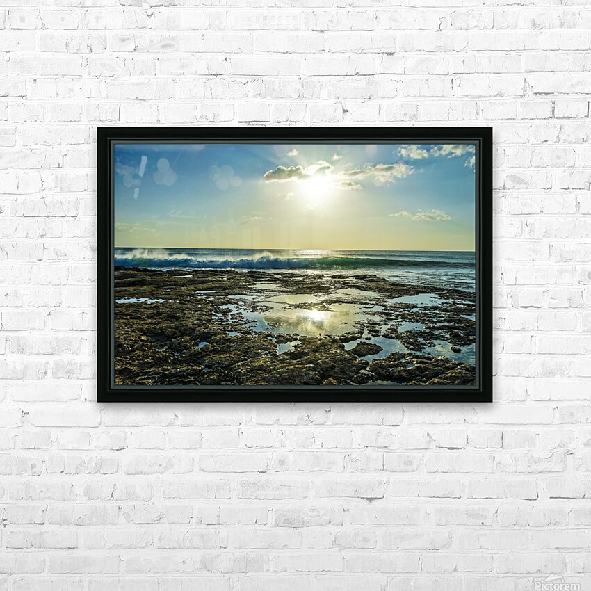 Waves Breaking on the Sea Shore   Hawaii HD Sublimation Metal print with Decorating Float Frame (BOX)