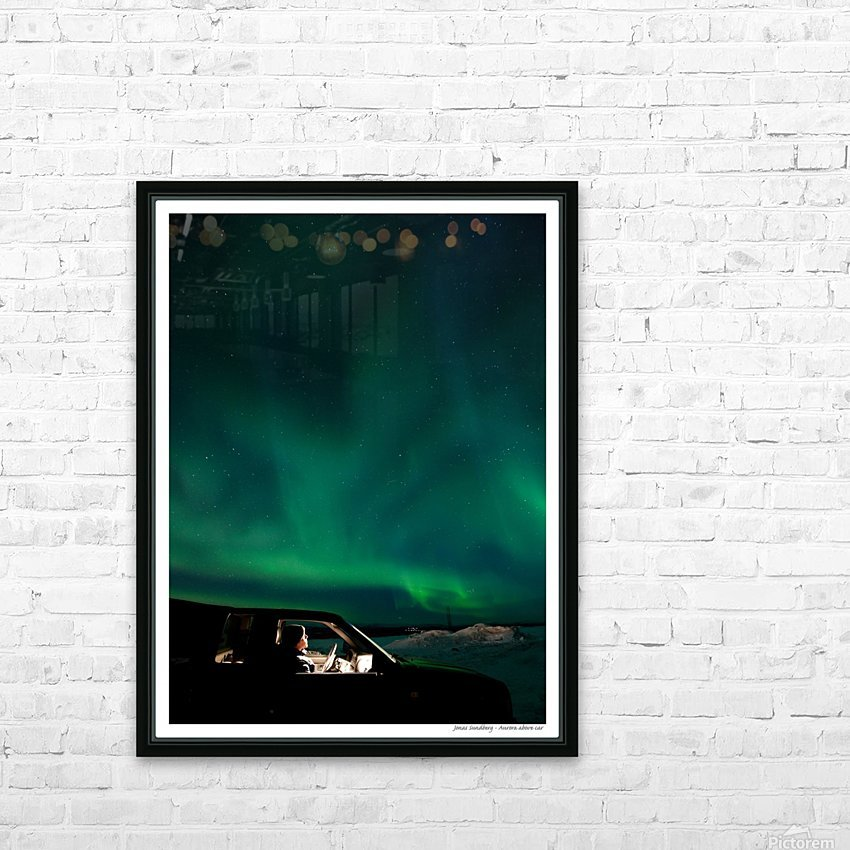 Aurora spectator HD Sublimation Metal print with Decorating Float Frame (BOX)
