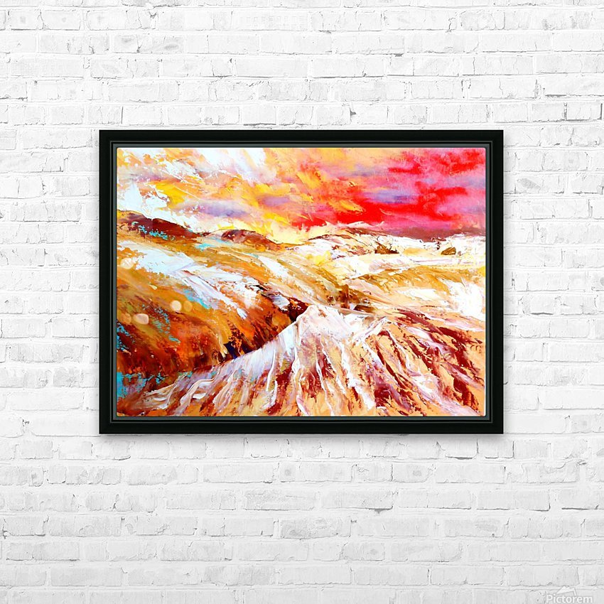 Sandy dunes    HD Sublimation Metal print with Decorating Float Frame (BOX)