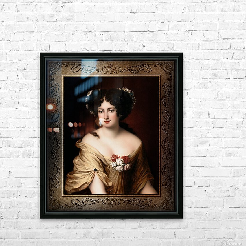 Portrait of Contessa Ortensia Ianna Stella by Jacob Ferdinand Voet Classical Fine Art Xzendor7 Old Masters Reproductions HD Sublimation Metal print with Decorating Float Frame (BOX)