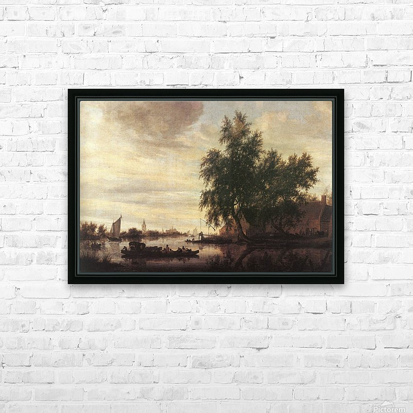 The Ferryboat HD Sublimation Metal print with Decorating Float Frame (BOX)