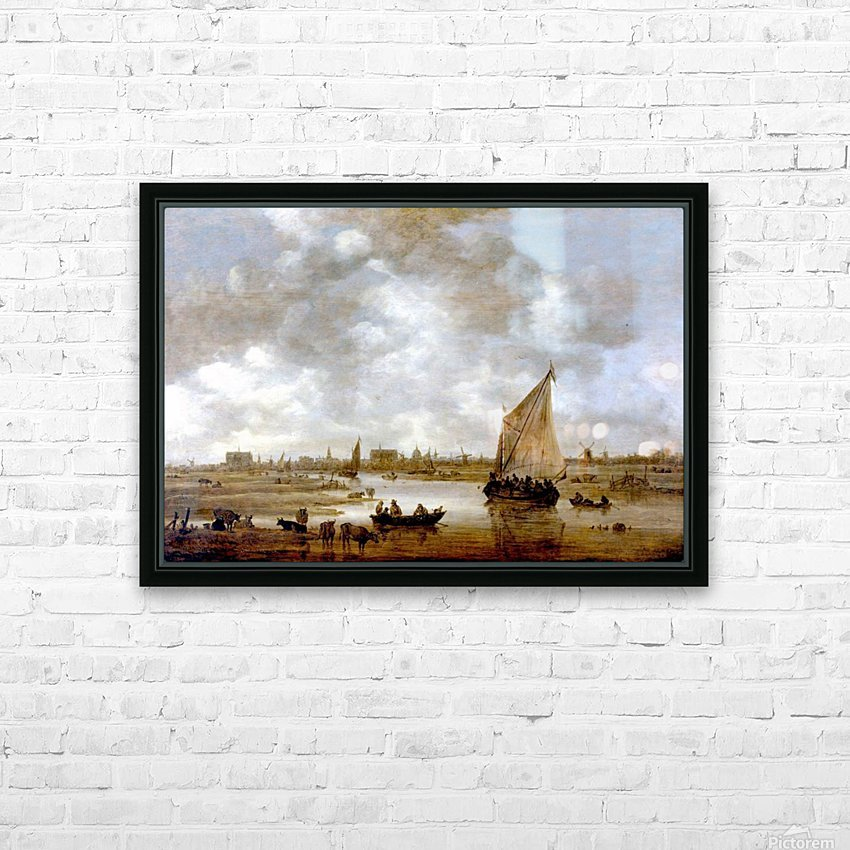 View of Leiden from the Northeast HD Sublimation Metal print with Decorating Float Frame (BOX)
