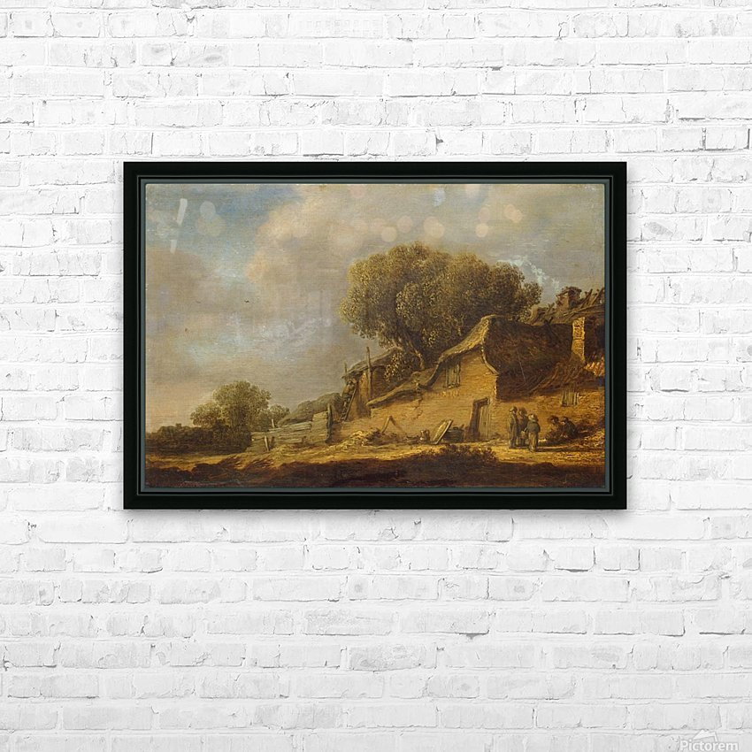 Landscape with a Peasant Cottage HD Sublimation Metal print with Decorating Float Frame (BOX)
